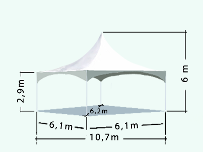 Diamond marquee sizes